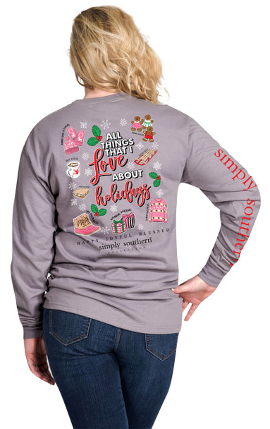Simply Southern All Things I Love Christmas Long Sleeve T-shirt