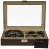 Leather Eyeglass & Sunglass Case in Espresso