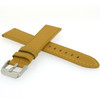 Calfskin Yellow Leather Stitched Watch Band - Side View