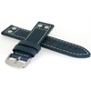 Leather Pilot Watch Band in Blue - Side View