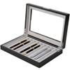 Pen Display Box in Black by Tech Swiss - Side View Open - Main