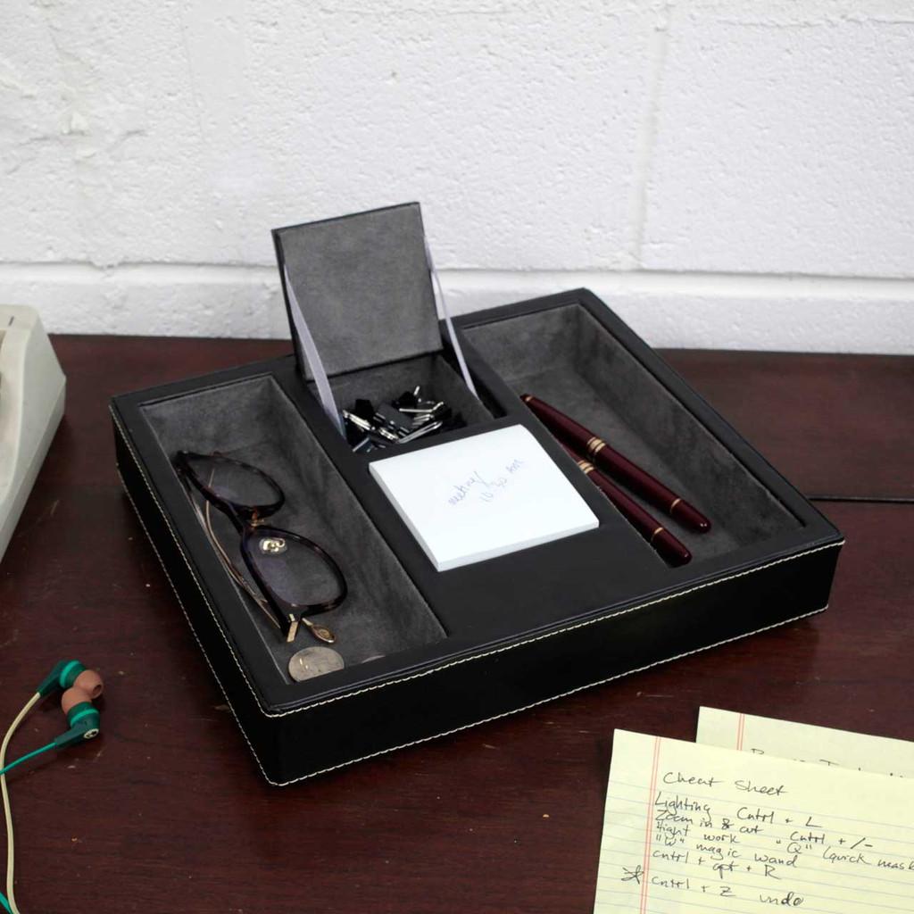 Mens Valet Tray with Hidden Pocket   Tech Swiss TSA4177   Sample