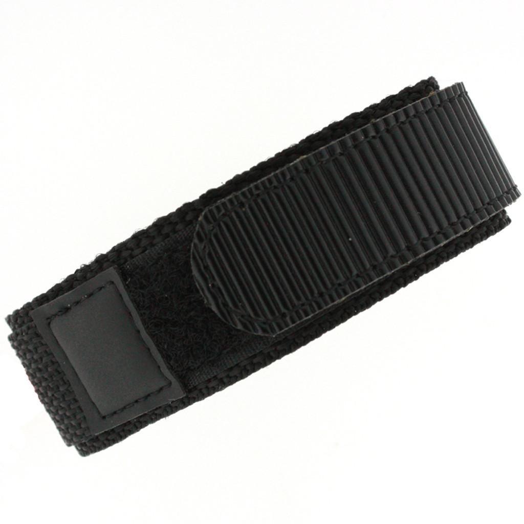 22mm Black Velcro Watch Band | 22mm Velcro Black Watch Strap | 22mm Sport Black Watch Band | Watch Material VEL100BLK-22mm | Main