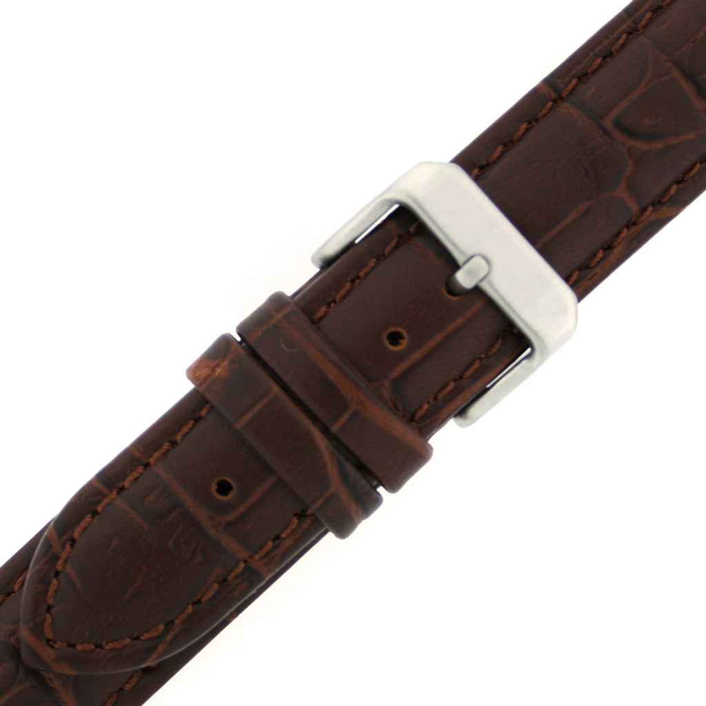 Extra Long Watch Band in Brown - Buckle View