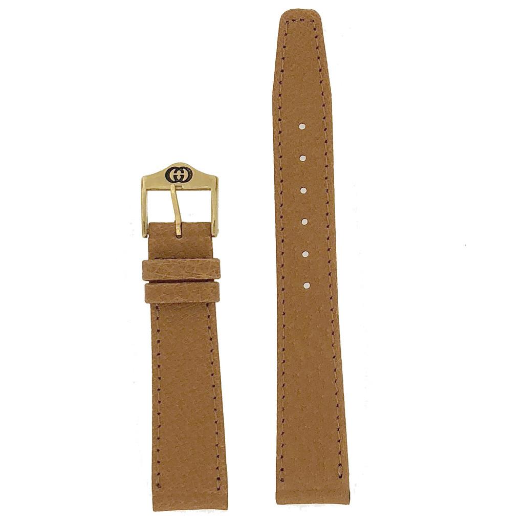tan gucci 17mm watch band