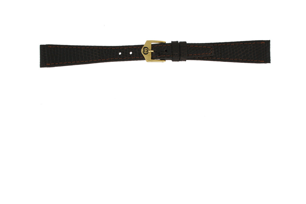 Gucci Watch Strap 14mm Brown Genuine Lizard 7200L - Main