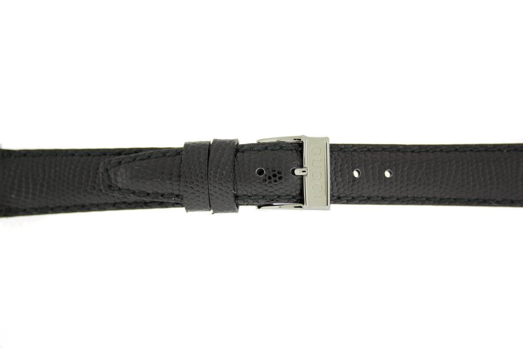 Gucci Watch Strap 14mm Black Genuine Lizard 6300L - Main