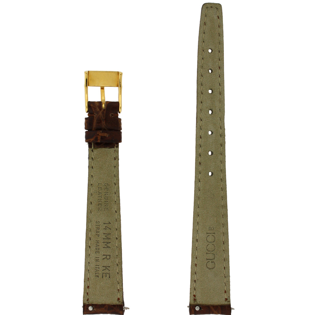 Gucci Watch Strap 14mm Tan Genuine Leather 2600L - Main