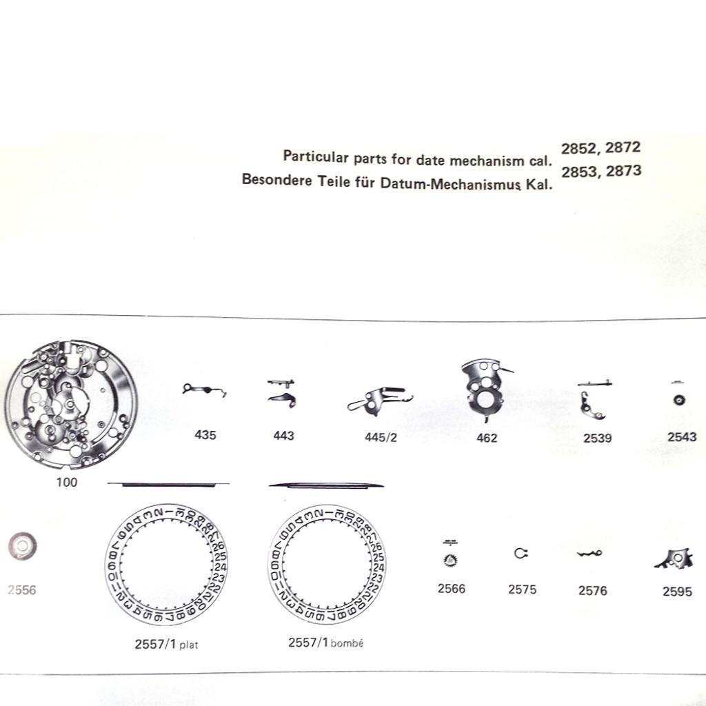 ETA 2850 2870 Jeweled Pallet Fork and Staff Original