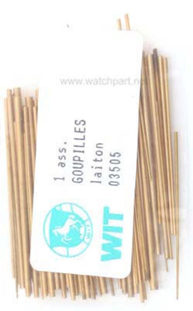 Conical Brass Pin Assortment 100 Pcs