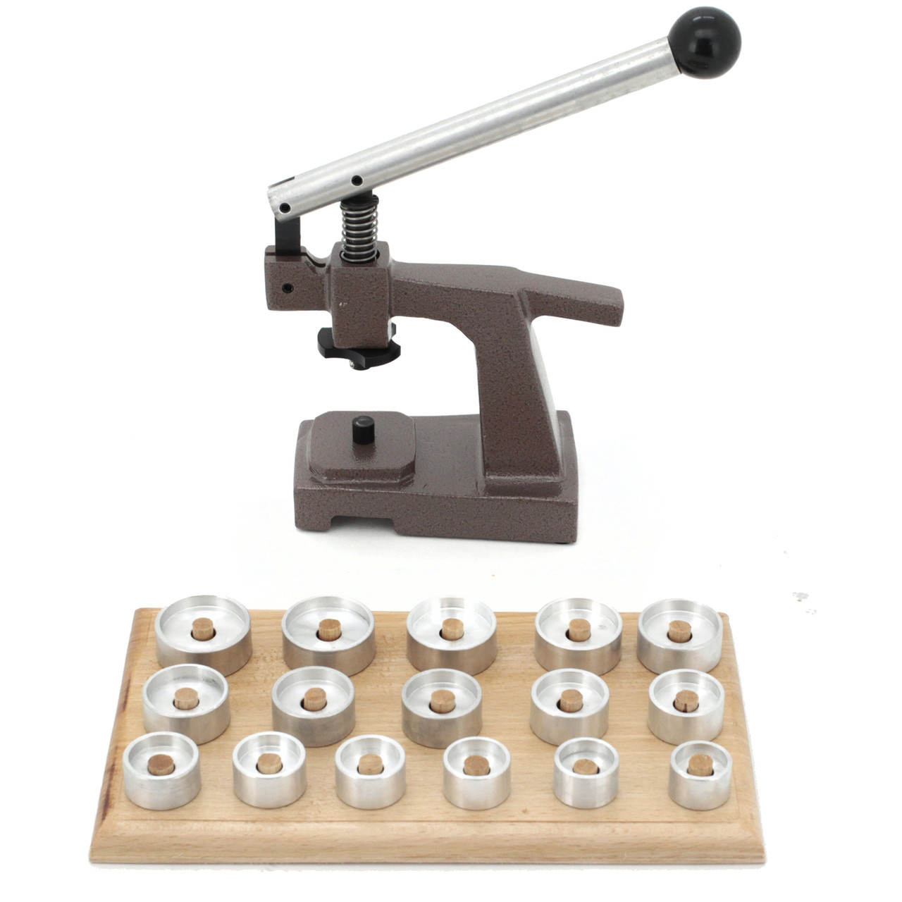 Watch Case Press with 16 DIES / Wooden BASE -PRS1 - Front