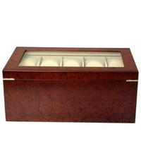 20 Watch Box Burl Wood Matte Finish XXL Extra Large