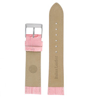 Pink Leather Watch Band with Alligator Grain - Interior View - Main