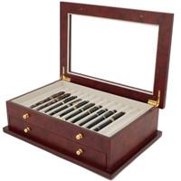 Burlwood Pen Display Case | TSBXPN26BUR | Tech Swiss | Main