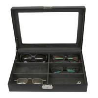 Leather Eyeglass & Sunglass Case in Black