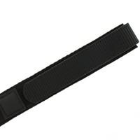 22mm Black Velcro Watch Band | 22mm Velcro Black Watch Strap | 22mm Sport Black Watch Band | Watch Material VEL100BLK-22mm | Side
