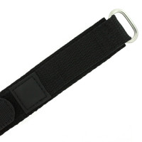 22mm Black Velcro Watch Band | 22mm Velcro Black Watch Strap | 22mm Sport Black Watch Band | Watch Material VEL100BLK-22mm | Buckle