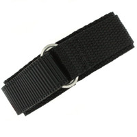 22mm Black Velcro Watch Band | 22mm Velcro Black Watch Strap | 22mm Sport Black Watch Band | Watch Material VEL100BLK-22mm | Wrap
