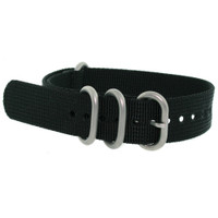 Watch Band Nylon One Piece Black Stainless Steel Buckle - Main