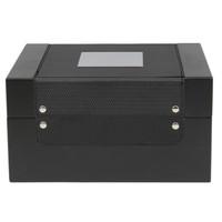 8 Watch Valet Sporty Design Black Carbon Fiber Accents Large Compartments - Main