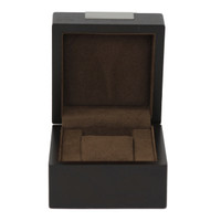 Single Watch Box 1 Extra Large Watch Wood Brown Finish Engravable Plate - Main