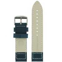 Leather Pilot Watch Band in Blue - Bottom View - Main
