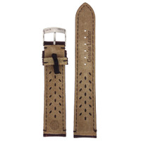 Brown Alligator Grain Leather Watch Band by Tech Swiss - Interior View