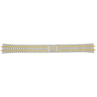 Gucci 9000M Watch Band Stainless Stee lwith Gold Plating - Front - Main