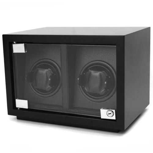 Watch Winder Double Wood Black Carbon Fiber