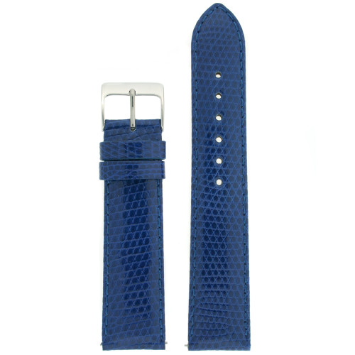 Watch Band Genuine Lizard Leather Strap Royal Blue