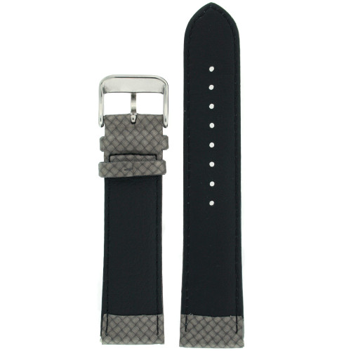 Watch Band Carbon Fiber Grey Water Resistant Padded - Main