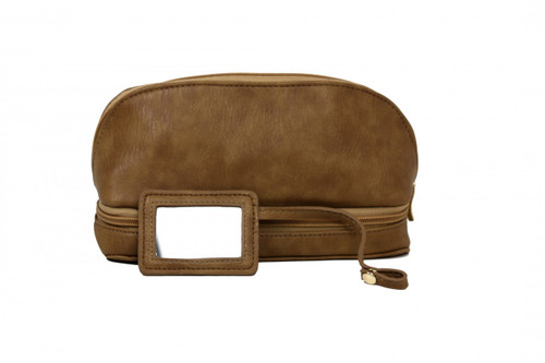 The Weekender - Travel Makeup Jewelry Case Camel Leopard Print - Main
