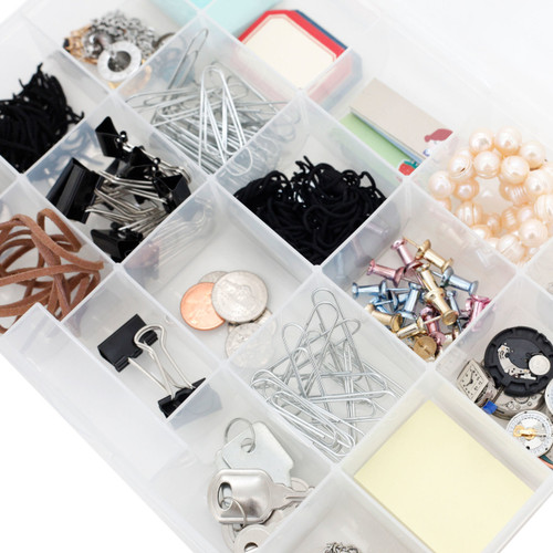 Plastic Organizer Tray for Small Watch Parts & Hobby Tools | Watch Material CTNB102 | Impact Resistant Craft Organizer | Top