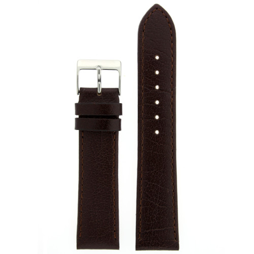 Brown Calfskin Leather Watch Band - Top View