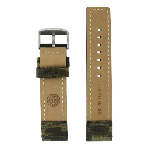 Camouflage Nylon and Leather Watch Band - Interior View - Main