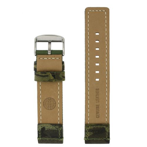 Leather Camo Watch Band by Tech Swiss - Bottom View - Main