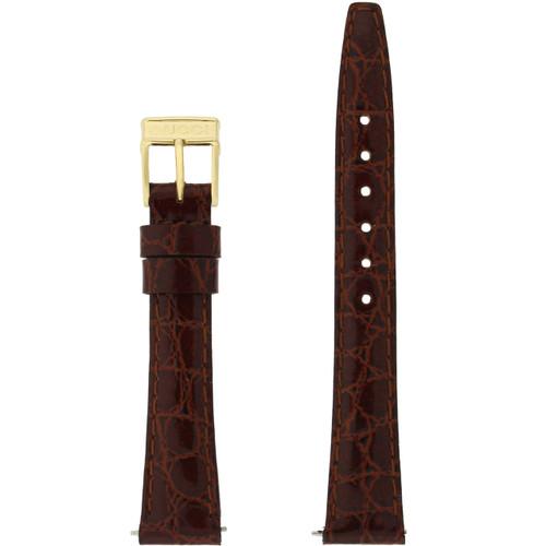 Gucci Watch Band 13mm Brown models 2200L 3000L Crocodile Grain