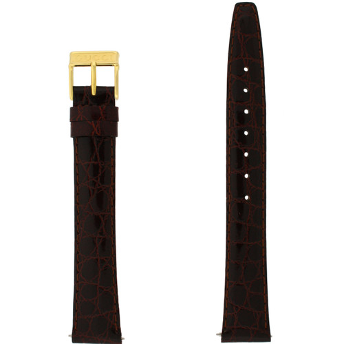 Watch Band 17mm Brown Genuine Leather Crocodile model 2200M 3000M -