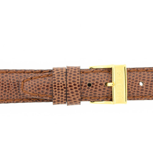 Gucci Watch Strap 14mm Tan Genuine Lizard 6300L - Main