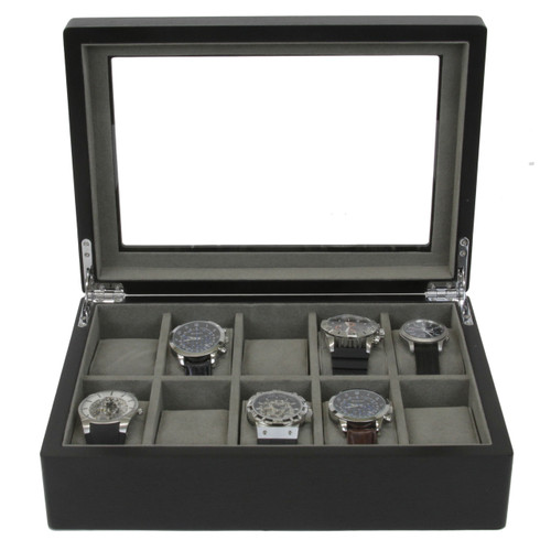 10 Watch Box in Black Ash Finish