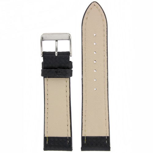 Carbon Fiber Print Leather Watch Band - Bottom View