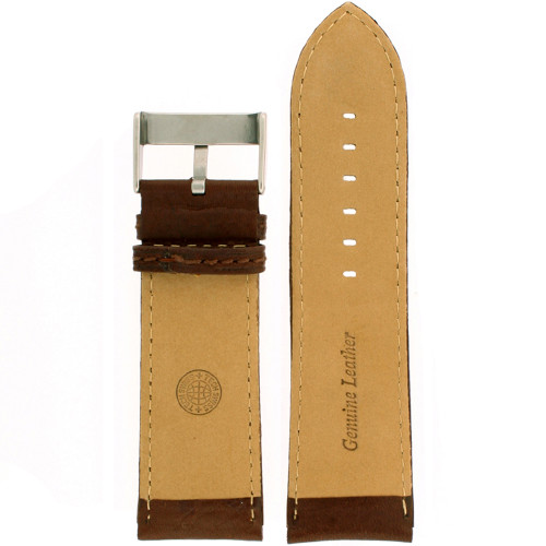 Extra Wide Leather Watch band - interior view - Main