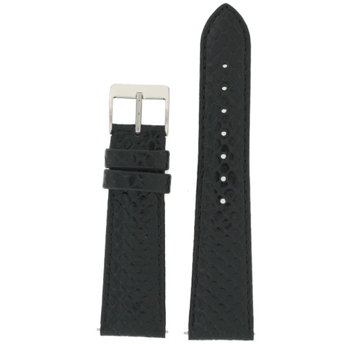 Genuine Leather Snake Grain Black Quick Release front