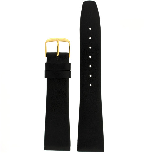 Calfskin Watch Band in Black - Top View