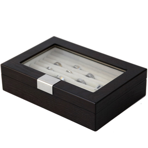 Ring and cufflink boxes - Side View Closed