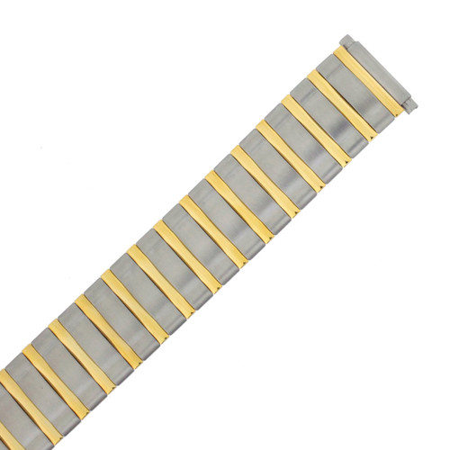 Speidel Watch Band Expansion Metal Mens Band Two tone fits sizes 16mm to 21mm | Front View | Watch Material