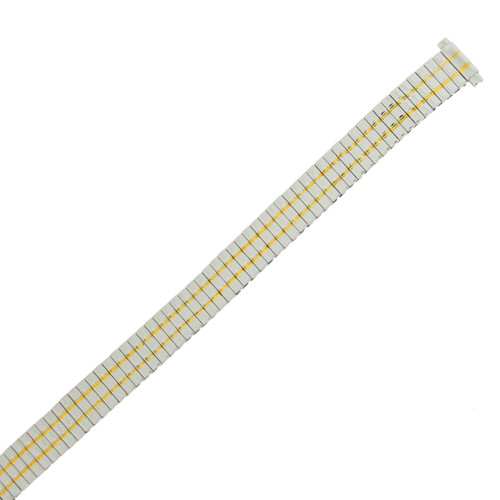Ladies Watch Band Expansion Two-Tone 10mm-12mm - TSMET247