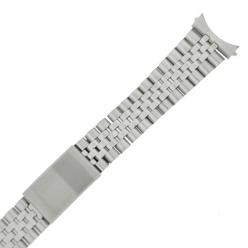 Solid Stainless Steel Watch Band Men Curved Ends 20mm