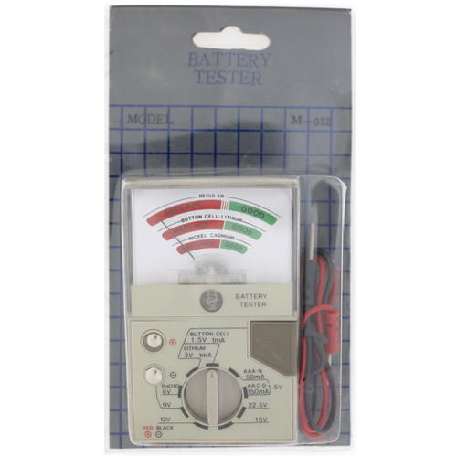 Tester to Test AAA, AA, C, D, 9 volt, 12 volt, 6 volt 3 Volt Lithium Batteries WT-2500 - Main