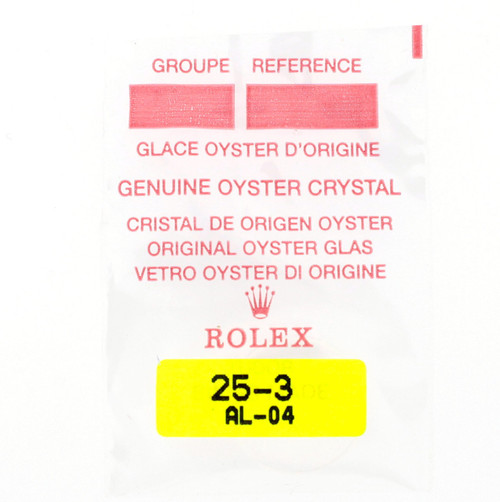 Original Rolex Crystal 25-3 | Oyster Tudor Crystal | Watch Material | Genuine Parts |